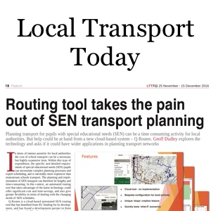 Screenshot of Local Transport Today article