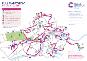 Shine Walk for Cancer Research map